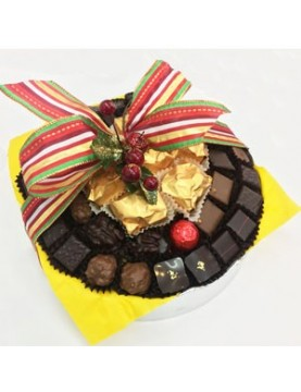 Panier chocolats marrons...